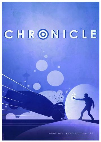 2010's Movie - CHRONICLE BLUE MINIMAL canvas print - self adhesive poster - photo print